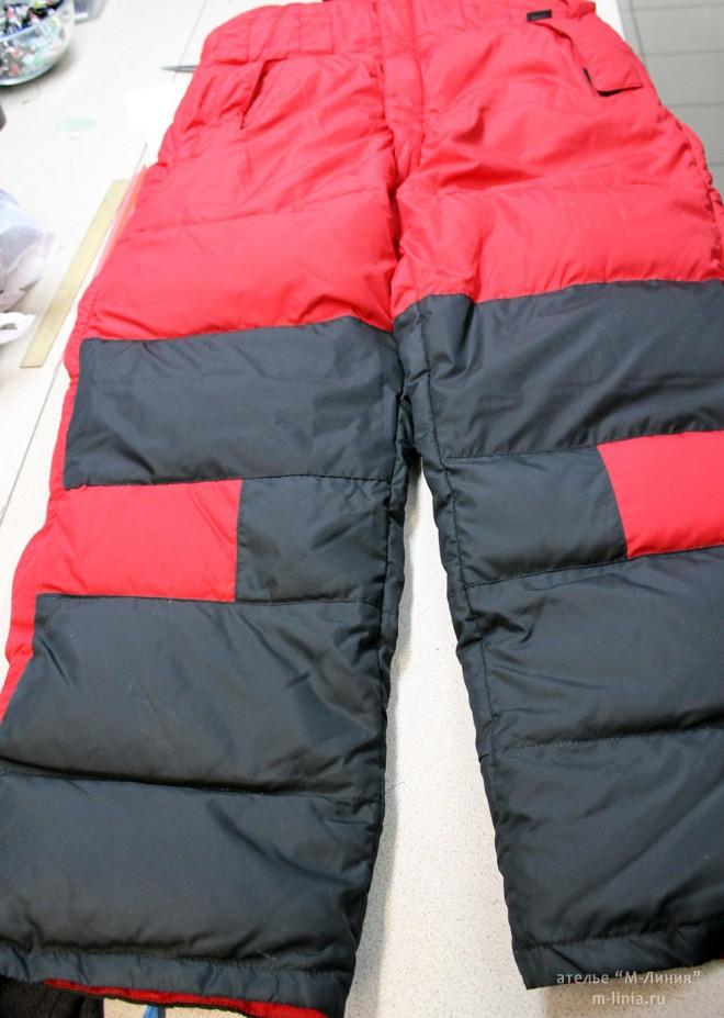 Ремонт утеплённой одежды