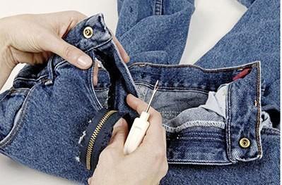 Замена молнии на джинсах