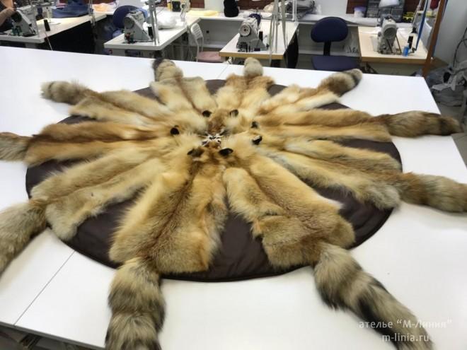 Пошив мехового ковра